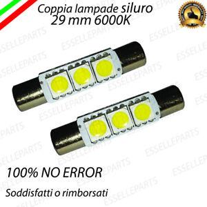 COPPIA-LAMPADE-SILURO-3-LED-29MM-CONNETTORI-PIATTI-6000K-LED-INTERNI