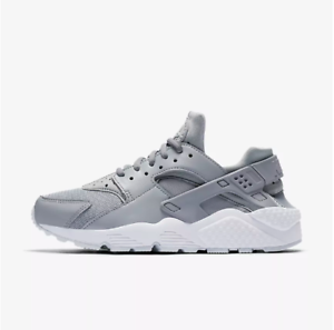 New-Nike-Women-039-s-Air-Huarache-Running-Shoes-634835-032-Wolf-Grey-White-Pure-Pl