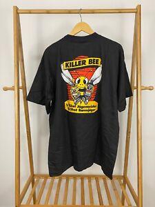 VTG-90s-Jagermeister-Killer-Bee-Black-Single-Stitch-Short-Sleeve-T-Shirt-Size-XL