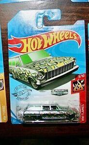 Hot Wheels 2020 Zamac 1964 Chevrolet Nova Wagon HW Flames Series