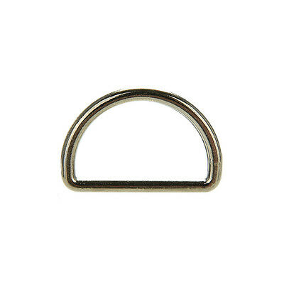 Metal Sliver D Ring D-rings Purse Ring Buckles For Webbing Strapping 25mm TOUS