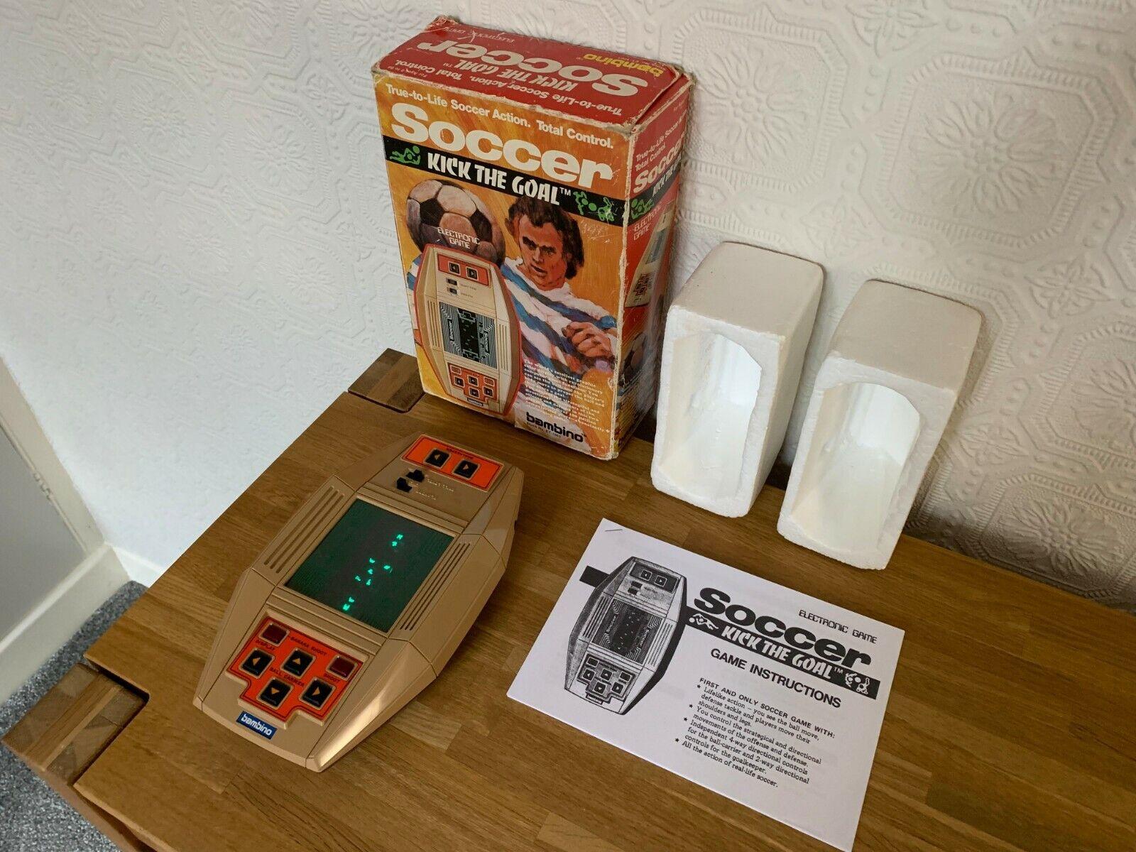 Envío rápido y el mejor servicio Raro en Caja Bambino fútbol 'patear la meta' Vintage Vintage Vintage 1979 juego electrónico -  como Nuevo .  100% precio garantizado