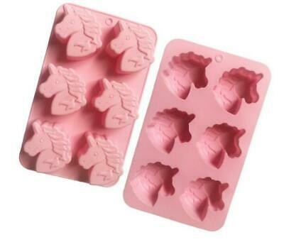 Unicorn Cake Soap Mold Flexible Silicone Mould For Candy Chocolate