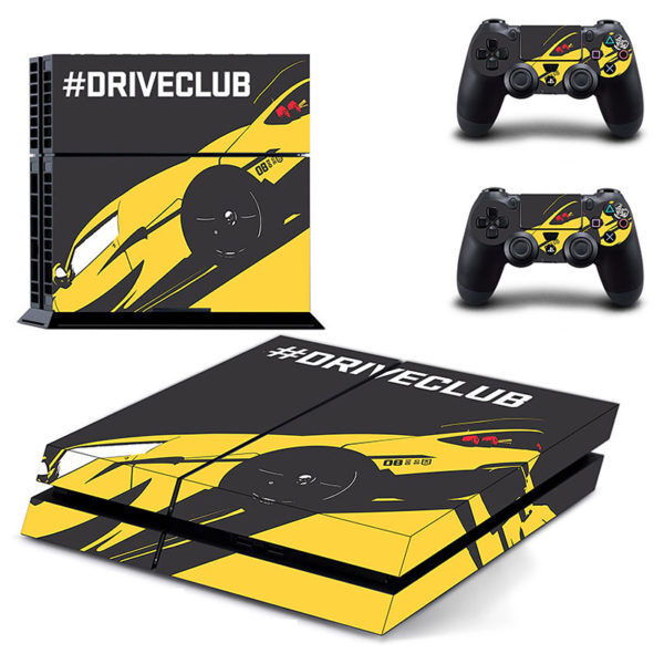 Drive Club Skin Vinyl Sticker for the PlayStation 4 Console PS4