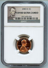 2003 S Lincoln 1 Cent PF69 NGC Red UCAM Graded Penny Coin President Label C10
