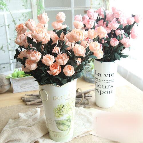 5//10 Pcs Artificial Phyllis Rose Flower Bouquets Home Wedding Party Decor