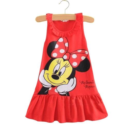 Minnie Mouse Baby Kids Girls Birthday Party Dress Costume Tutu Jumper Longshirt