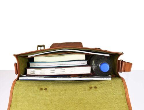 Heiße Laptop Leder Schulter Messenger Männer Aktentasche Satchel Vintage grg8wXq