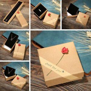 Rosa-Blume-Ring-Halskette-Armband-Ohrring-Valentinstag-Anzeige-SchmuckkA-s-tBUKA