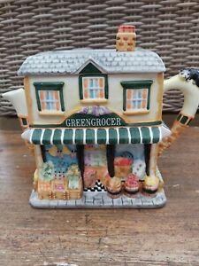 Vintage-Ornamental-TEAPOT-039-Greengrocer-039-by-Leonardo-Collection
