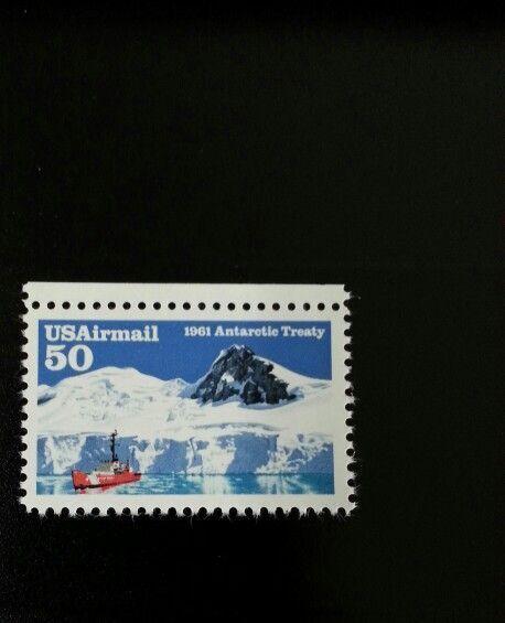 1991 50c Antarctic Treaty Arms Control, 30th Anniversar