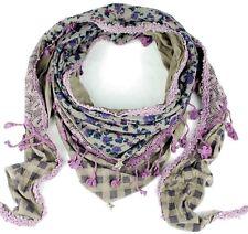 Schal Dreieck-Schal Damenschal Tuch Halstuch 3 Schichten-Schal mit Sternanhänger