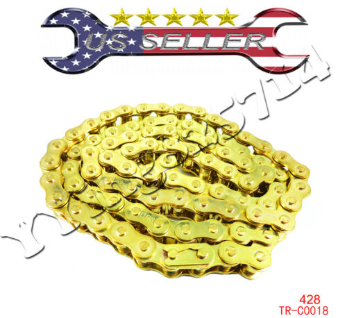 428 102L GOLD Chain PIT DIRT BIKE ATV HONDA XR50 CRF50 70cc 110cc 125cc Chinese
