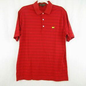 Amen-Corner-Masters-Mens-Red-Stripe-Golf-Polo-Shirt-Pima-Cotton-Size-M-Augusta