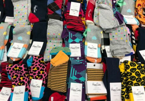 Details about  /Happy Socks Multi Color Mens and Womens Unisex Socks 9-11 10-13