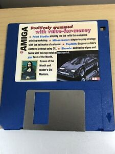 CU-Amiga-Magazine-Cover-Disk-28-Print-studio-Mineclearer-TESTED-WORKING