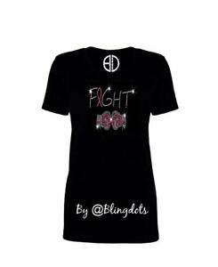 Fight-Cancer-Bling-Shirt-sequins-glitter-sparkling-v-neck