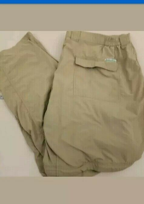 BUZZ OFF  ExOfficio Congreenible Cargo  Hiking Pants Mens 2XL 44 X 32 Nylon Beige  outlet online store