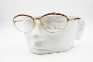 Paloma-Picasso-3844-41-Made-in-Austria-Vintage-rare-eyewear-frame-Oval-Golden