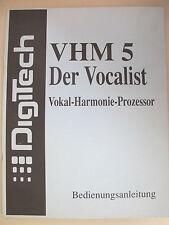 DigiTech VHM 5 Der Vocalist Vokal-Harmonie-Prozessor Bedieungsanleitung original