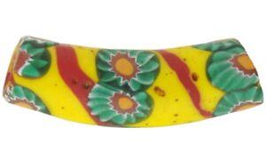 African-trade-bead-old-elbow-Millefiori-Venetian-glass-bead-rare-mosaic-glass