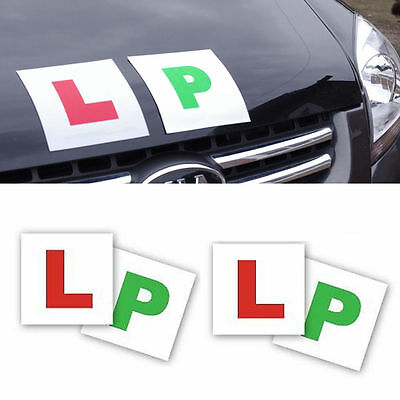 L /& P Plates 2 of each Magnetic Learner Plates Green P Car Bike Learner Driver L