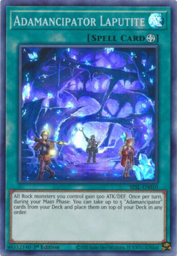 YGO-1x-Near Mint-Adamancipator Laputite 1st Edition SESL-EN010 Super Rare