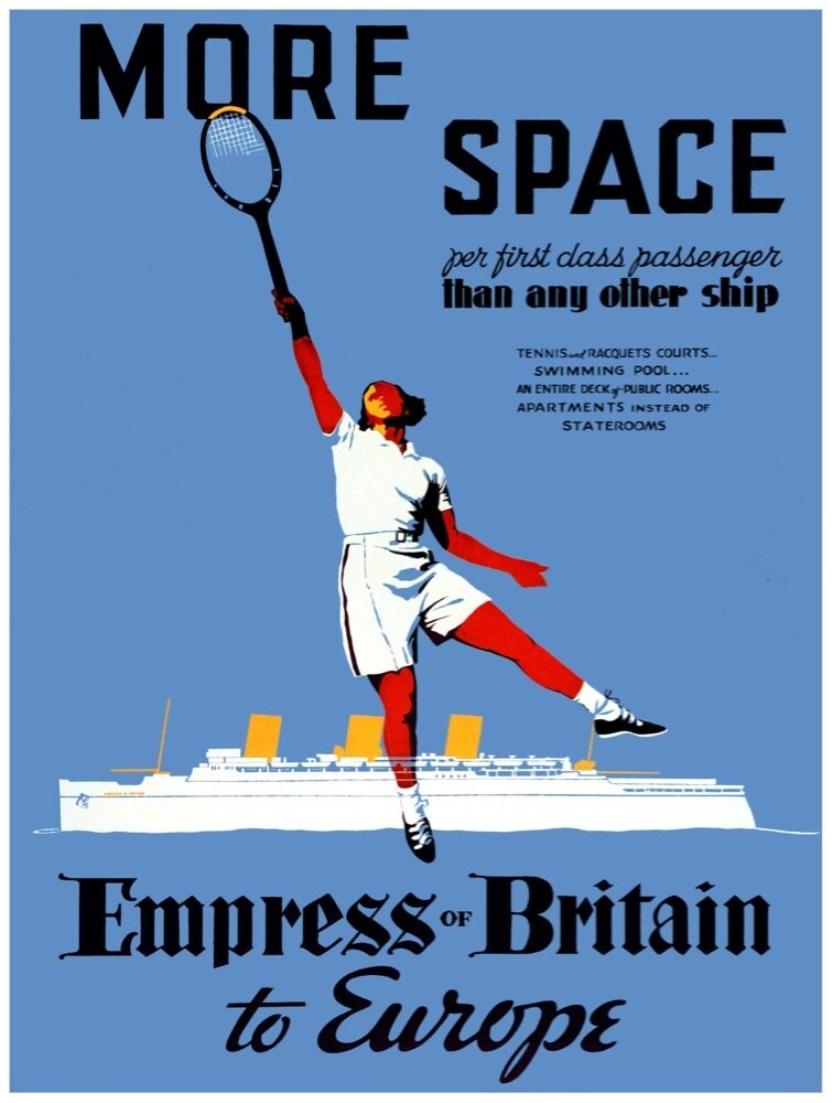 4683.Empress of britain.canada and USA.steamship.POSTER.decor Home Office art