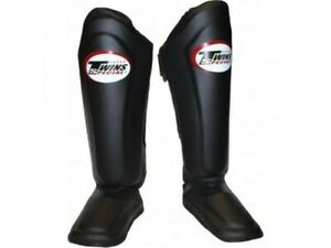 TWINS SPECIAL NEW SHIN GUARDS PADS MUAY THAI BOXING MMA BLACK SGL10 EXPRESS SHIP