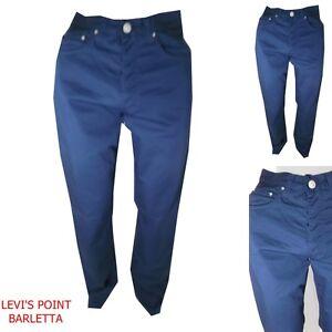 san francisco 3776c ca92a Dettagli su pantaloni versace uomo in cotone vita alta diritto blu jeans  estivo tg W31 32 33