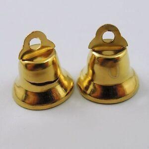 VINTAGE-GOLD-TONE-FERRO-MINI-Campane-Ciondoli-trovare-Ciondoli-artigianato-50pcs-36845