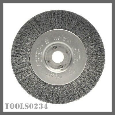 "TLN-6 5//8/""-1//2/"" A.H. .014 Weiler 01075 6/"" Narrow Crimped Wire Wheel"