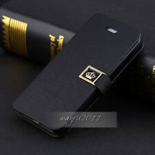 NEW Luxury Flip PU Leather Wallet Case Cover For apple iPhone 5 5G 5S