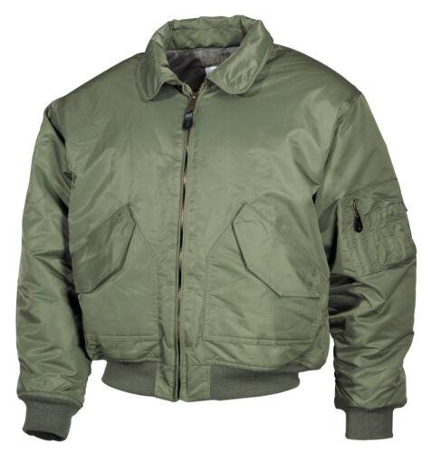 MFH us CWU-pilote veste aviateur veste Bomber veste Harrington veste noir xs-5xl