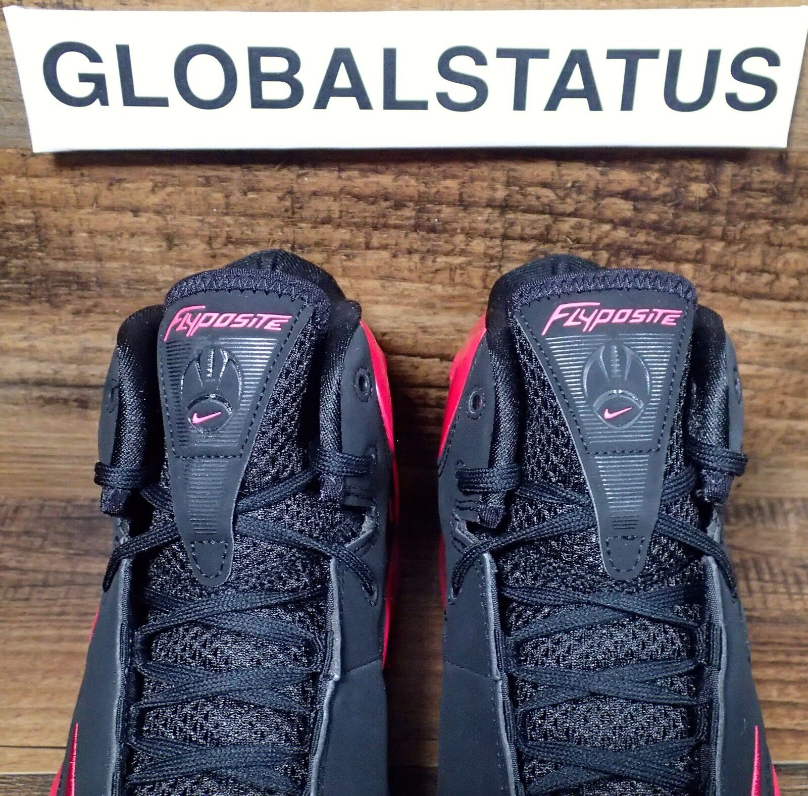 finest selection 35683 58e2a ... 2012 NIKE AIR MAX FLYPOSITE BREAST CANCER BLACK VIVID PINK PINK PINK  SHOES 536850 600 SZ ...