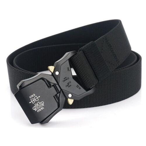 1x Black Mens Tactical Belt 1.5inch Wide Elastic Braided Trousers Belt Waistband