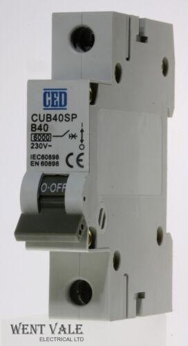 CUB40SP CED 40a Type B Single Pole MCB Unused