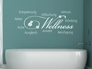 Wandtattoo Wellness Wandaufkleber Tattoo für Badezimmer Bad ...