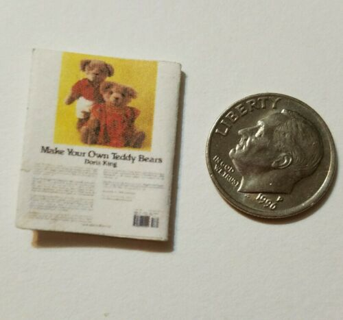 Miniature Dollhouse  Barbie 1//12 Scale Book Teddy Bear Children Toy book E
