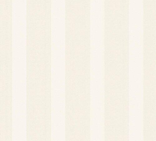 2,79€//1qm Esprit Home Tapete Vlies Streifen weiß silber Glitzer Esprit 35713-1