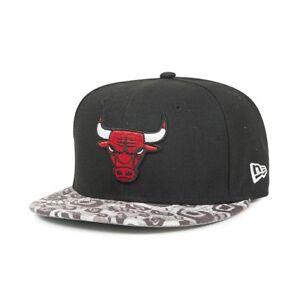 e357994d968 A29 NEW ERA Official NBA CHICAGO BULLS Tribal Visor Baseball Cap ...