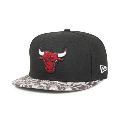 A29 NEW ERA Official NBA CHICAGO BULLS Tribal Visor Baseball Cap Various Sizes
