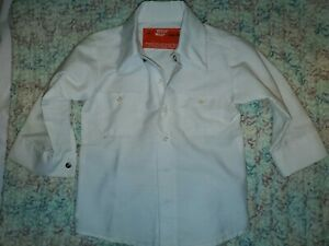 1980-039-s-Vintage-Salesman-Sample-Tiny-Mens-White-Uniform-Shirt-Work-Wear-Garment