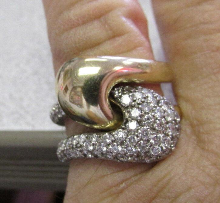 d33250030 Ciemme Yin Yang Diamond Puzzle Ring 14k 2 color gold size 6-1 2 Make ...