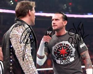 CM PUNK & CHRIS JERICHO SIGNED PHOTO 8X10 RP AUTOGRAPHED WWE WRESTLING