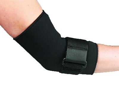 Black Neoprene Adjustable Elbow Strap Support Brace Wrap Tennis Golfer Arthritis