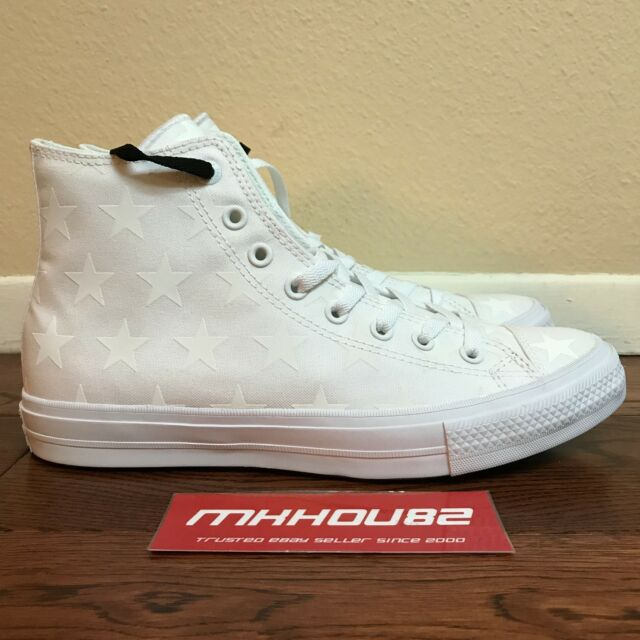 New Converse CTAS II Hi Top Chuck Taylor All Star 2 White Stars 151162C Size  10 82b1df941