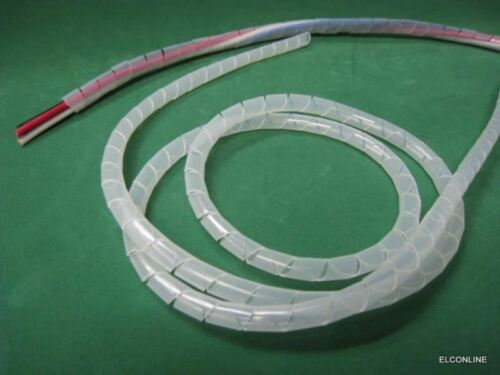 8mm Cable Wire Organizer 5m//lot #GTN SWB-8 Transparent Spiral Wrapping Band Dia