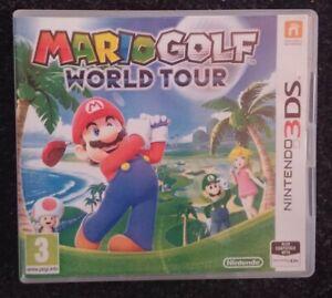 Mario-Golf-World-Tour-Nintendo-3DS-Video-Game-Rare-PAL