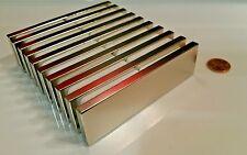 Huge Neodymium Block Magnet. Super Strong Rare Earth N52 grade 4 x 1-1/8  x 1/4
